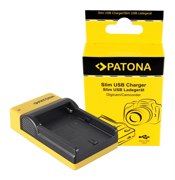 PATONA Slim Micro-USB Ladegerät f. Sony NP-F970 NP-F960 NP-F950 DCR-VX2100 HDR-FX1