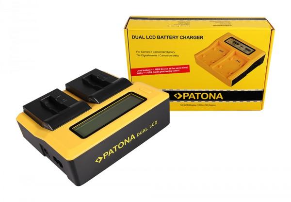 PATONA Dual LCD USB Ladegerät f. GoPro AHDBT-401 Hero4 Black Edition AHDBT-401 Hero5 Black