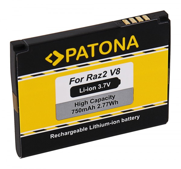 PATONA Akku f. Motorola Razr2 V8 Moto U8 U9 V10 V9 V9m ZN5 Razr2 V8 MOTORAZR2