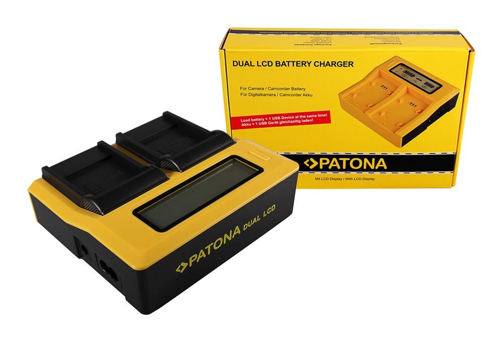 Patona BENQ Casio NP-40 DC P500 E520 E520+ E610 Casio NP-40 Casio dual LCD USB töltő
