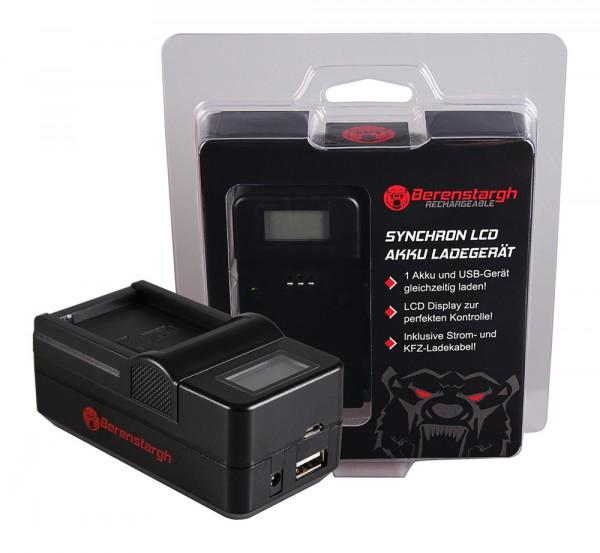 Berenstargh Synchron USB Ladegerät f. Fujifilm Fuji NP-W126 FinePix HS30 EXR HS30EXR HS-30EXR HS33