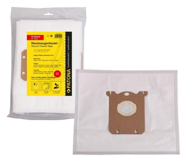 PATONA 10 Staubsaugerbeutel mehrlagig Vlies inkl. Microfilter f. Electrolux E15 mit neuem Aufsatz