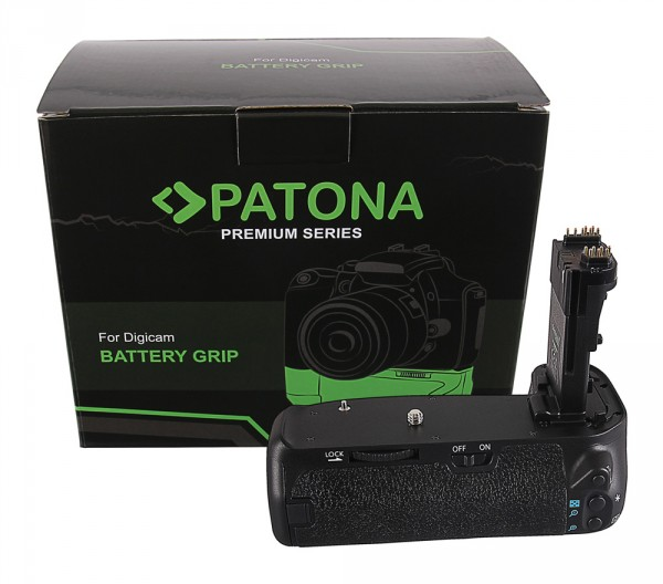 PATONA Premium Batteriegriff f. Canon EOS 70D 80D BG-E14H f. 2 LP-E6 Akkus inkl. IR-Fernbedienung