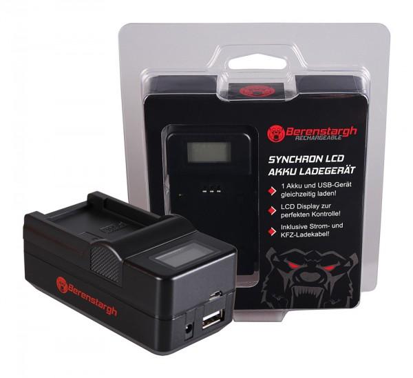 Berenstargh Synchron USB Ladegerät f. Casio NP-20 Exilim EXM1 EX-M1 EXM2 EX-M2 EXM20 EX-M20 EXS1