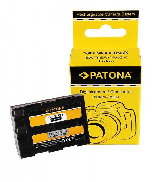 Akku f. Nikon EN-EL3 D100 D100SLR D50 D70 von PATONA