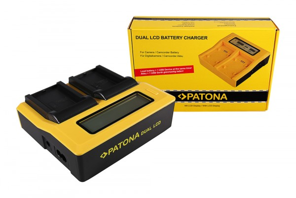 PATONA Dual LCD USB Ladegerät f. Contour GPS Contour CT-3650 HD 1080P