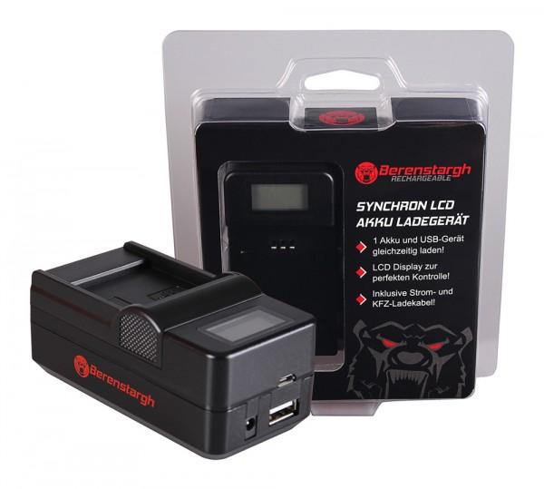 Berenstargh Synchron USB Ladegerät f. Samsung IA-BP85ST HMX H104 H104 H105 H105 H106 H106 HMXH100