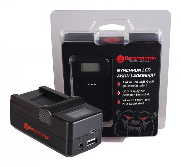 Berenstargh Synchron USB Ladegerät f. Pentax D-LI88 Optio H90 P70 P80 W90 WS80 D-LI88 D-LI88 Sanyo