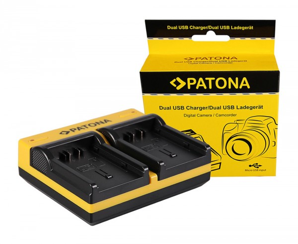 PATONA Dual Ladegerät f. Panasonic VBN130 260 HC HCX920M VBN130 260 HDC HC-X920M inkl. Micro-USB Kab