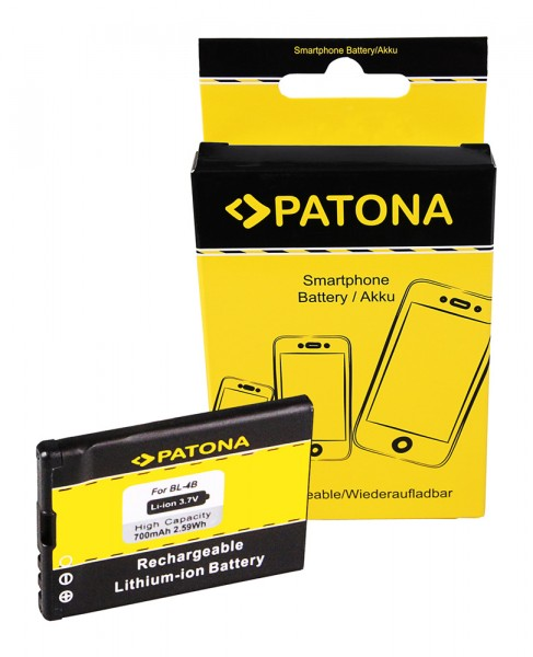 Akku f. Nokia 6111 Prism N75 N76 6111 1606 2505 2630 2660 2760 3606 von PATONA