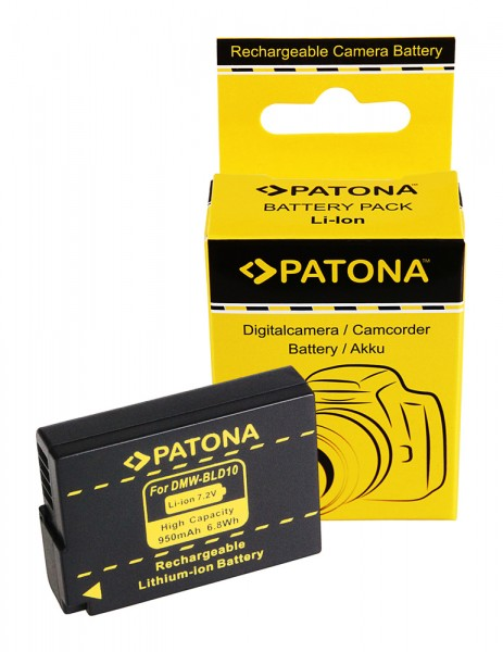 Akku f. Panasonic DMW-BLD10 Lumix DMCGF2 DMC-GF2 von PATONA