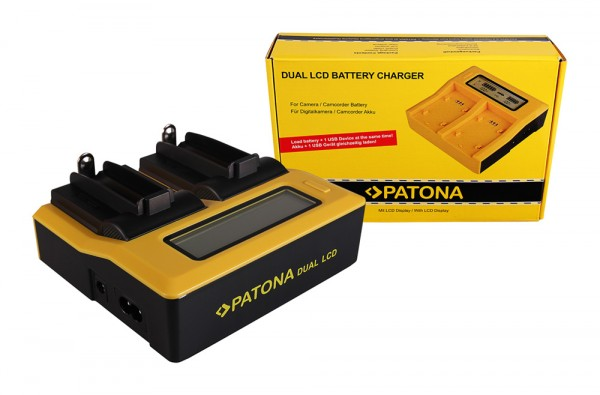 PATONA Dual LCD USB Ladegerät f. 18650 Zelle ICR18650-26F INR18650F1L NCR18650B US18650VTC5 US18650V