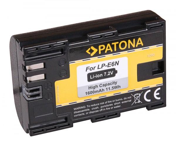 Akku f. Canon LP-E6N EOS 5D 5D Mark II 5D Mark III 5DS 5DS R 60D 60Da von PATONA