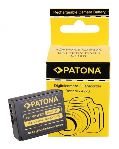 Akku f. Fujifilm NP-W126 FinePix HS30 EXR HS30EXR HS-30EXR HS33 EXR von PATONA