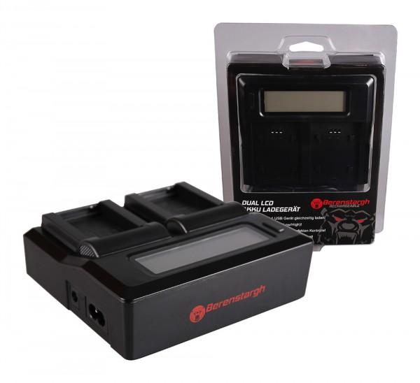 Berenstargh Dual LCD USB Ladegerät f. Nikon EN-EL20 1 J1 J-1 V3 V-3