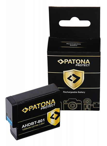 PATONA PROTECT Akku f. GoPro Hero 8 AHDBT-801 Hero 7 AHDBT-701 Hero 6 Hero 5 AHDBT-501