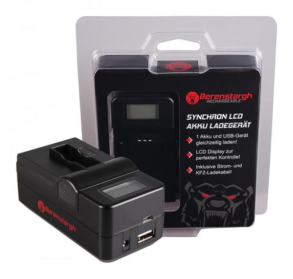 Berenstargh Synchron USB Ladegerät f. GoPro AHDBT-401 Hero4 Black Edition AHDBT-401 Hero5 Black