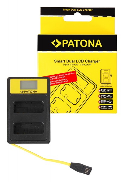PATONA Smart Dual LCD USB Ladegerät f. Nikon EN-EL14 ENEL14 D3100 D3200 D5100 D5200 D5300 P7000 P7700 P7800