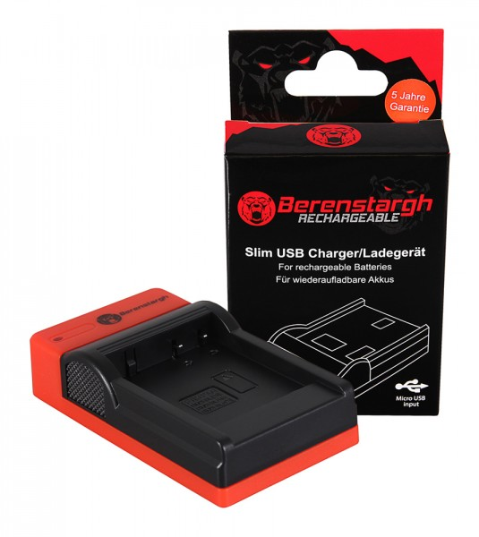 Berenstargh Slim Micro-USB Ladegerät f. Panasonic DMW-BLG10 CSBLG10MC CS-BLG10MC DMWBLG10 DMW-BLG10