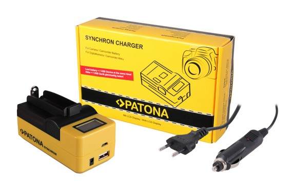 PATONA Synchron USB Ladegerät f. 18650 Zelle ICR18650-26F INR18650F1L NCR18650B US18650VTC5 US18650V