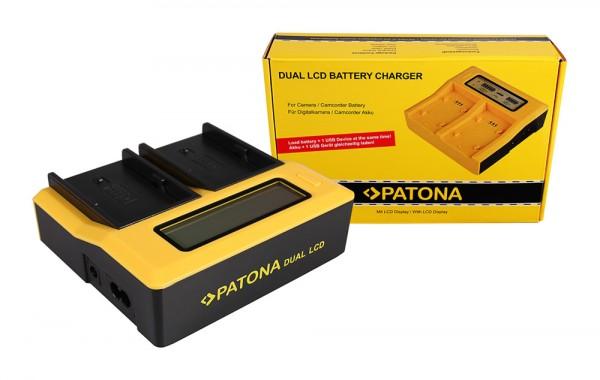 Dual LCD Ladegerät f. Sony BP-U60 PMW 100 150 160 200 EX1 EX1r EX3 F3 F3K F3L von PATONA