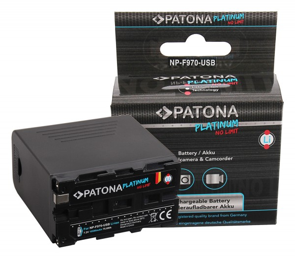 Premium Akku f. Sony NP-F970 CCD CCDSC5 CCD-SC5 CCDSC65 CCD-SC65 CCDTR1 CCD-TR1 von PATONA
