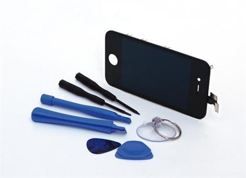 PATONA LCD LC Display Komplettset f. Apple iPhone 4 4G schwarz inkl. Werkzeugset