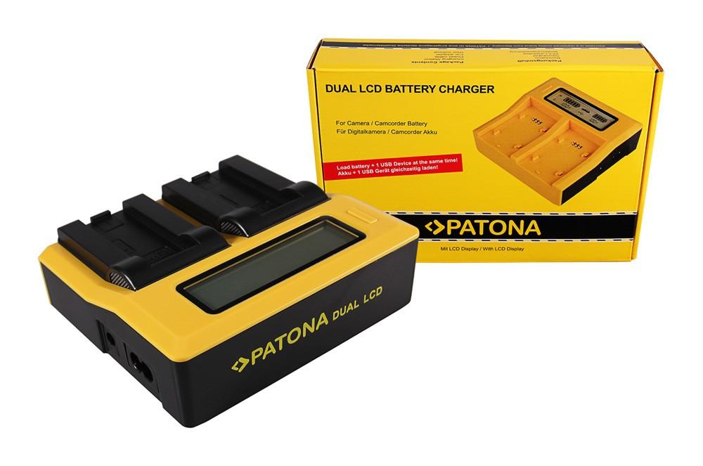 Patona Casio NP-50 Exilim EXV7 EX-V7 EXV8 EX-V8 dual LCD USB töltő