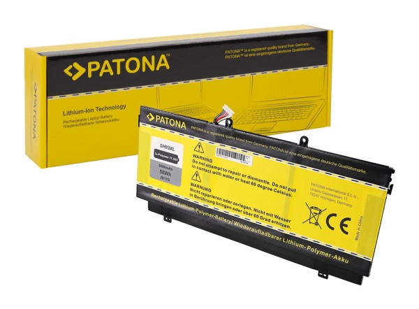 PATONA Akku f. HP Compaq Spectre X360 SH03 SH03XL HSTNN-LB7L 859026-421 859356-855 TPN-Q178