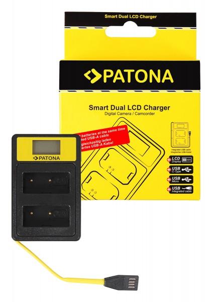 PATONA Smart Dual LCD USB Ladegerät f. Fuji NP-W126 HS30 EXR HS30EXR HS-30EXR HS33 EXR HS33EXR HS-33EXR XPro 1 X-Pro 1