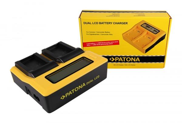 Dual LCD Ladegerät f. Nikon EN-EL24 1 J5 von PATONA