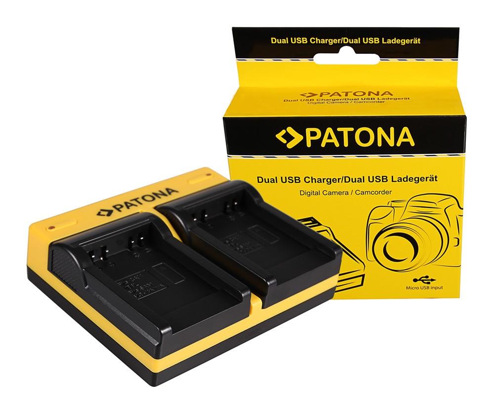 Patona Canon LP-E5 EOS 1000D 450D 500D dupla töltő  USB kábellel