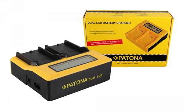Dual LCD Ladegerät f. Canon Label alt Elura 100 DC10 DC100 DC20 DC21 DC210 DC220 von PATONA