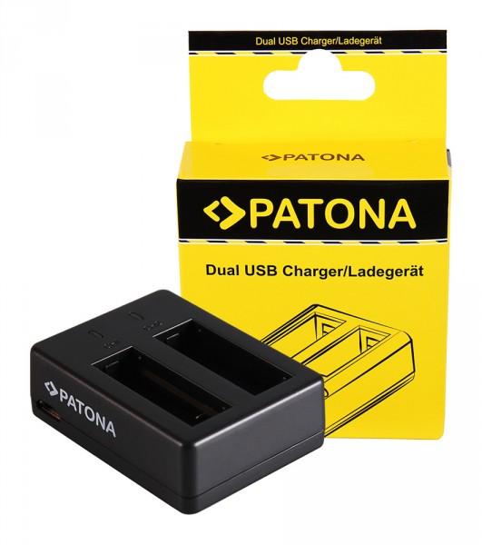 PATONA Dual Schnell-Ladegerät f. SJCAM SJ6 Legend Black SJ6000 inkl. Micro-USB Kabel