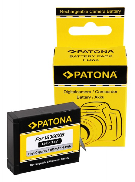 PATONA Akku f. Insta360 One X Action Cam