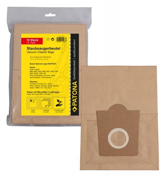 10x Mehrlagiger Papier Staubsaugerbeutel f. Bosch Siemens BSH G BBS 1000-1199 Casa 2000-2299 Alpha/N
