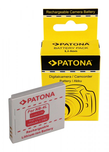 Akku f. Canon NB-4L Digital Ixus 30 40 50 55 65 70 75 80 i zoom i7 I von PATONA
