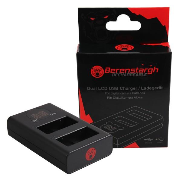 Berenstargh Dual LCD USB Ladegerät f. Panasonic DMW-BLC12 Leica V-Lux 4