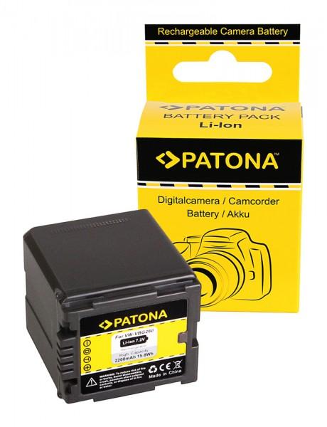 Akku f. Panasonic VW-VBG260 HDC HDCDX1 HDC-DX1 HDCDX1EGS HDC-DX1EG-S von PATONA