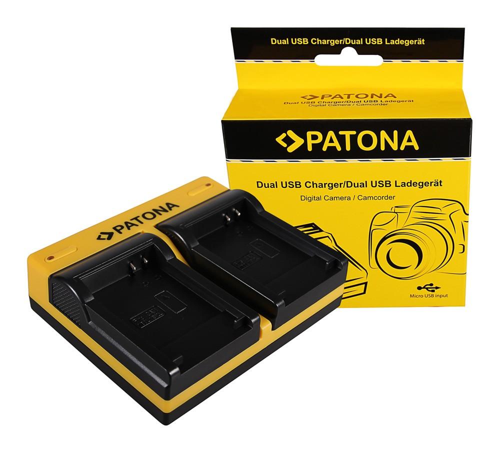 Patona Canon NB-8L Powershot A2200 A3000 IS A3000IS A3100 IS A3100IS dupla töltő  USB kábellel