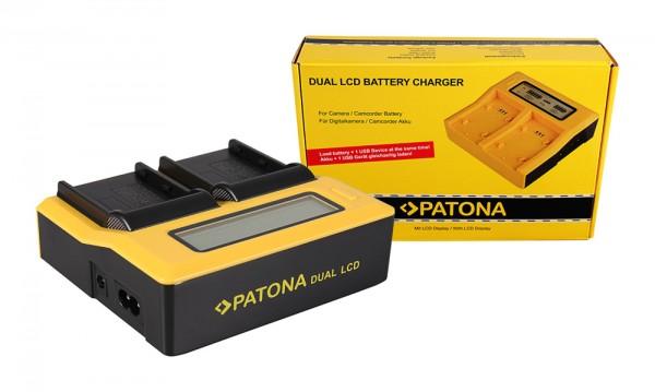 Dual LCD Ladegerät f. Konica Minolta EN-EL3 EN-EL3e FNP-150 BLM5 Dynax 5D 7D EN-EL3 von PATONA