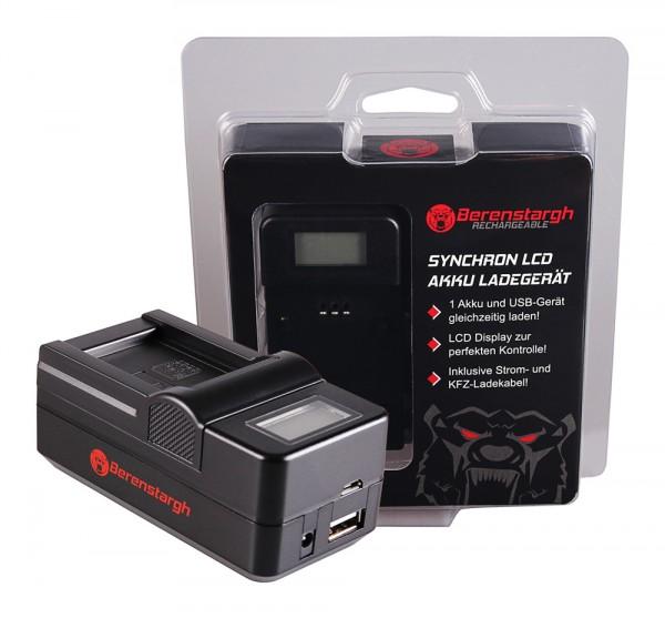 Berenstargh Synchron USB Ladegerät f. Aiptek Ordro NP-170 084-07042L-062 AHD 2 AHD H23 CB-170 Ordro