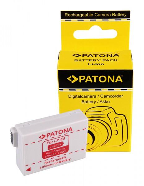 Akku f. Canon LP-E8 EOS 550D 600D 650D 700D von PATONA