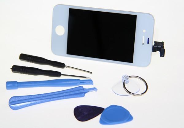 PATONA LCD LC Display Komplettset f. Apple iPhone 4s weiß inkl. Werkzeugset