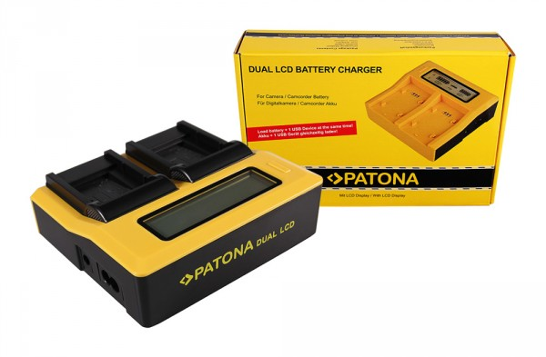 PATONA Dual LCD USB Ladegerät f. Casio Nikon EN-EL11 TR350 TR-350 Nikon EN-EL11 Nikon EN-EL11