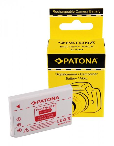 Akku f. Nikon EN-EL8 CoolPix P1 P2 S1 S2 S3 S5 S6 S7 S7c S9 von PATONA