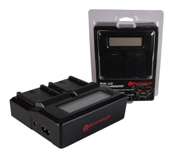 Berenstargh Dual LCD USB Ladegerät f. Canon BP-511 EOS 650 10D 20D 20Da 300D 300D 40D CMV500 D30