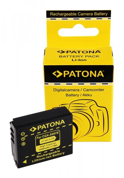 Akku f. Panasonic CGA-S007 Lumix DMC TZ2 DMC- TZ2 DMC TZ3 DMC- TZ3 DMC von PATONA