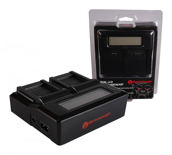 Berenstargh Dual LCD USB Ladegerät f. Panasonic DMW-BCM13 Lumix DMCFT5 DMC-FT5 DMCFT51 DMCTS5 DMC-TS