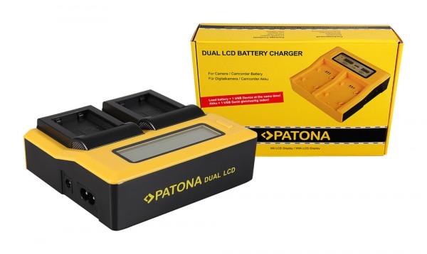 Dual LCD Ladegerät f. Sony NP-FW50 NEX A33 A55 NEX.3 NEX.3C NEX.5 NEX.5A NEX.5C von PATONA